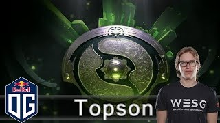 OG.Topson Pugna Gameplay - The International 2018 Europe Open Qualifier - Round of 64.
