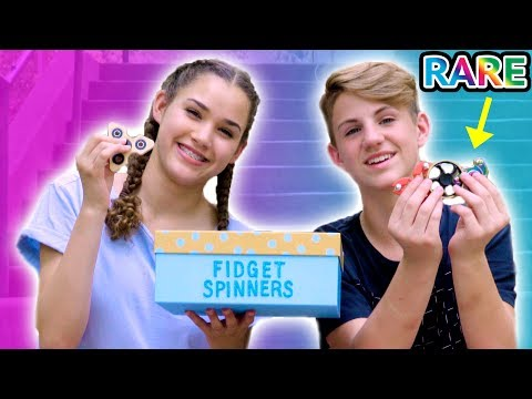 RARE Fidget Spinner Surprise Unboxing + Tricks!  (MattyBRaps vs Gracie)