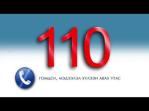 Авлига мэдээллэх утас 110