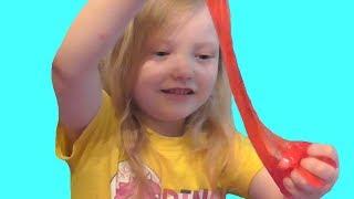 Суперлипкий покупной лизун. Slime. Видео для детей. Video for kids.