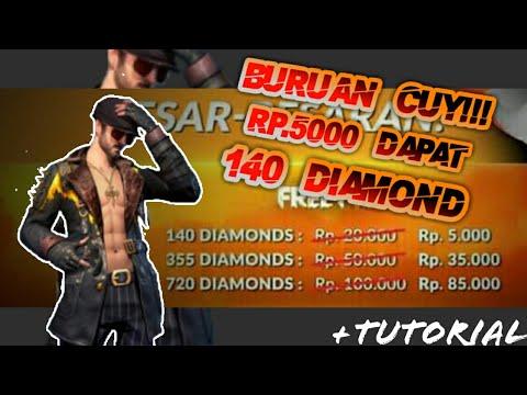 Tempat top up Free fire Termurah - 140 Diamond cuma Rp.5000
