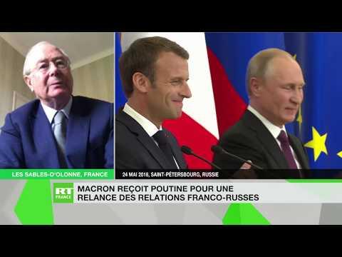 """Rencontre Macron-Poutine : «Macron est l'interlocuteur le plus """"tangible"""" pour parler avec Poutine»"""