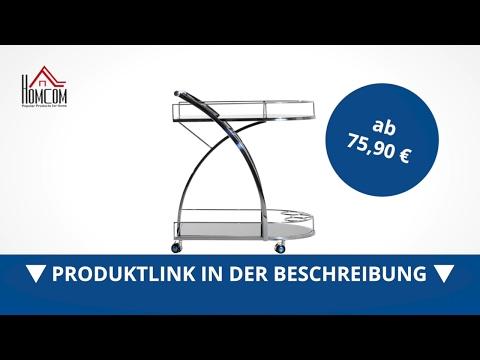 Homcom Küchenwagen Servicewagen Rollwagen Beistellwagen - direkt kaufen!