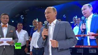 Владимир Путин поздравил в Сочи победителей международного турнира по самбо
