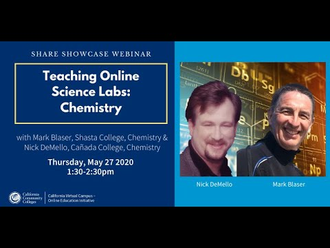 Share Showcase – Teaching Online Science Labs: Chemistry ...