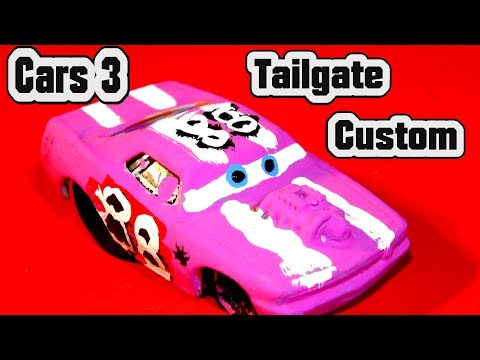 Pixar Cars 3 Custom Tailgate Demolition Derby Crazy 8 Race Cars With Primer Lightning McQueen Cars