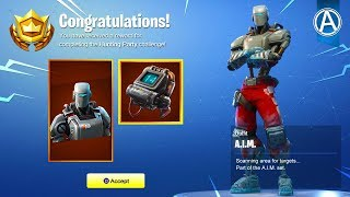 """NEW HUNTING PARTY """"A.I.M."""" SKIN UNLOCKED! (Fortnite Battle Royale)"""