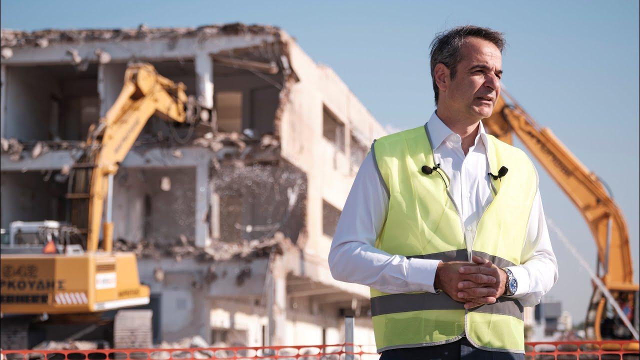 Παρουσία του Πρωθυπουργού Κυριάκου Μητσοτάκη στην έναρξη των πρόδρομων εργασιών στο Ελληνικό
