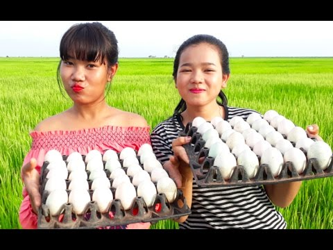Cooking 300 Eggs - Two Beautiful girls cook eggs Traditional in my Country - Enjoy with young girls