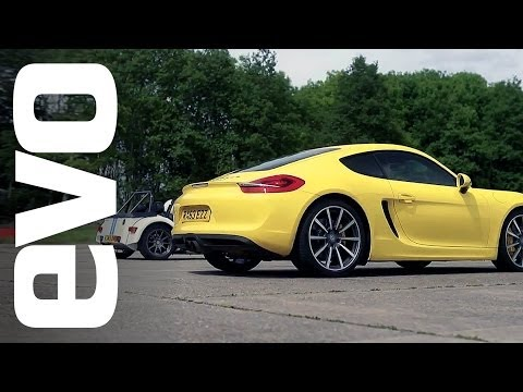 Porsche Cayman S vs Caterham 7 Roadsport 140
