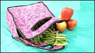 Grocery Bag Making | Grocery Bag With Handle Tutorial - Tailoring With Usha