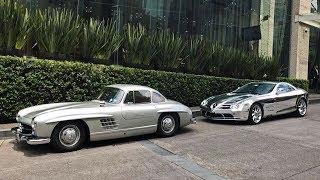 Mercedes Benz 300SL Gullwing & SLR McLaren en la Ciudad de México