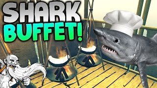 """Raft Gameplay - """"ALL YOU CAN EAT SHARK BUFFET!!!"""" Walkthrough Let"""