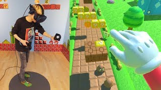 BECOME SUPER MARIO IN VIRTUAL REALITY! | Super Mario Bros VR (HTC Vive Pro + Proximat Gameplay) - Video Youtube