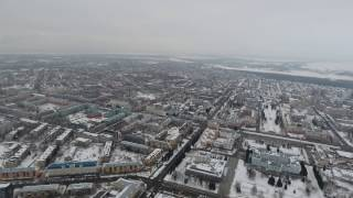 Барнаул, видео 4K с квадрокоптера. 315 метров 360 грудусов