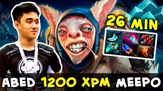 Abed 1200 XPM Meepo vs 5 counter-pick heroes