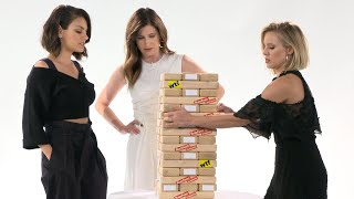 "Kristen Bell & The Cast Of ""A Bad Moms Christmas"" Play Truth Or Dare Jenga"