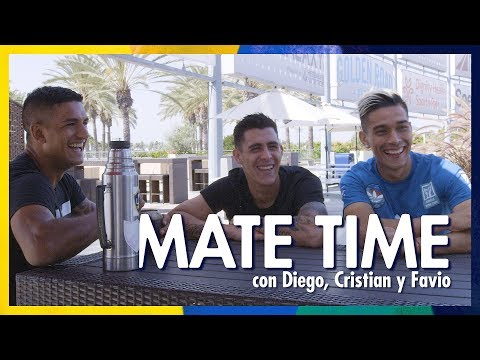 MATE TIME: Cristian Pavon Diego Polenta and Favio Alvarez on their love of mate