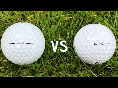 Titleist AVX vs Taylormade TP5  – Low Spin Golf Ball Face-Off !!!