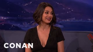 Mila Kunis Cant Deal With Her New Boobs   CONAN On TBS