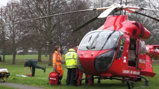 preview picture of video 'London Air Ambulance - Hendon'