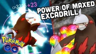 Drilbur  - (Pokémon) - THE POWER OF MAXED EXCADRILL IN POKEMON GO | DRILL POWER