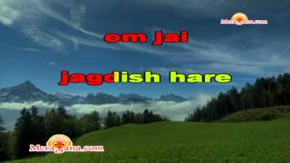 Karaoke of Om Jai Jagdish Hare by MeraGana.com - YouTube