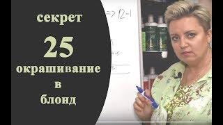 Секреты колориста от Тани Шарк. Секрет № 25. Как решить задачу по окрашиванию в блонд.