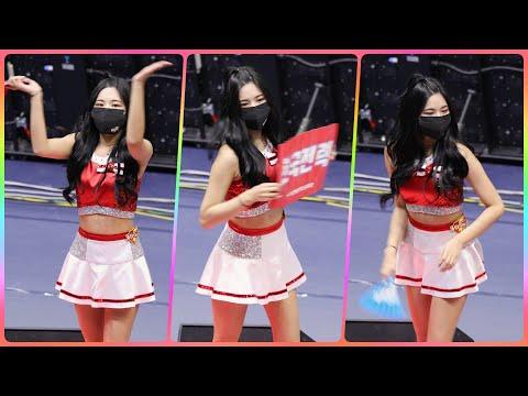 [4K] 치어리더 이이슬 직캠 (cheerleader) - 1세트 응원 @남자배구경기/201118/Fanca…