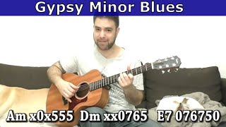 Lesson: Gypsy Style Minor Blues In Fingerstyle (AWESOME!) - Guitar Tutorial W/ TAB | LickNRiff