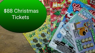 $88 in Christmas tickets for Profit.  Lottery scratch tickets.