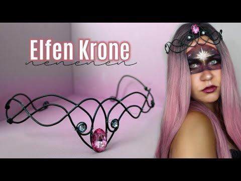 Elfen Krone - Diadem (DIY Waldelfen Krone) Part 1   Lilixy Mee