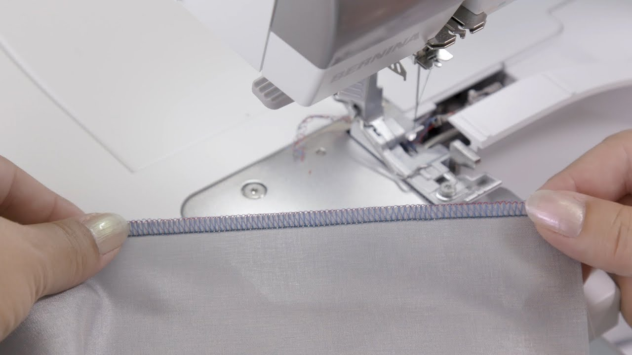 BERNINA L 850 Overlocker/Serger: Stitch Optimization 4- and 3-Thread Overlock