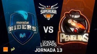 MOVISTAR RIDERS VS PENGUINS | Superliga Orange J13 | Partido 1 | Split Verano [2018]