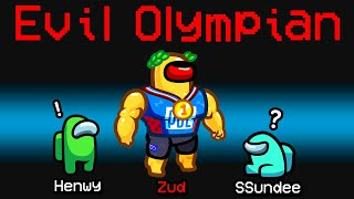 NEW Among Us EVIL OLYMPIAN ROLE?! (Minigame Mod)