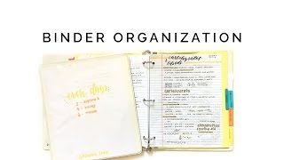 how to organize your binder 📒 staying organized for school