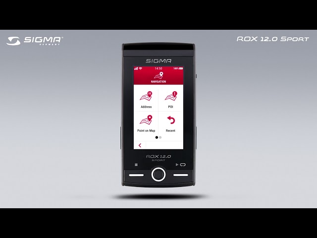 Видео Велокомп'ютер Sigma Sport ROX 12.0 Gray Set