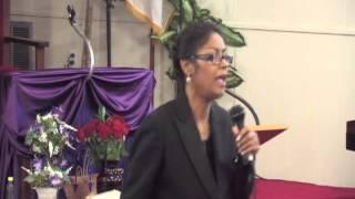 Day 2 Evangelist Denise Matthews (Vanity) speaks in Niceville Florida June 2013.