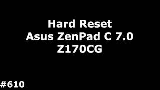hard reset asus zenpad - मुफ्त ऑनलाइन