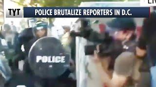 Trump's Police GOONS Assaulting Reporters Before Bible Photo Op