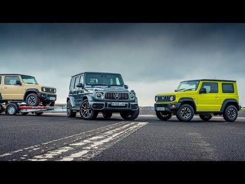 Сузуки Джимни-Буксировка Mercedes-AMG G63 Drag Races… Сузуки Джимни