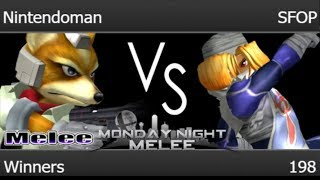 MNM 198 - Nintendoman (Fox) vs SFOP (Sheik) Winners - Melee