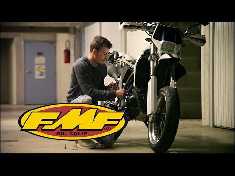 FMF POWERCORE4 on drz-400 | wheelie montage - смотреть онлайн на Hah