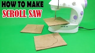 How To Make A Mini Scroll Saw from Old Sewing Machine