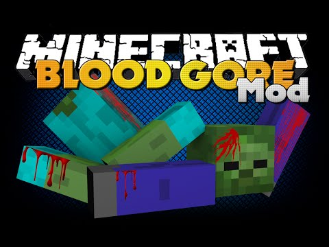 Minecraft - BLOOD AND GORE MOD - NEW AESTHETICS