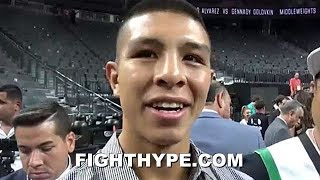 JAIME MUNGUIA REACTS TO CANELO BEATING GOLOVKIN IN REMATCH; SAYS HE'D GIVE CANELO MORE ACTION