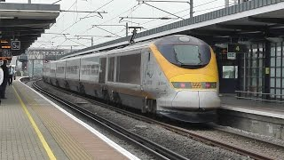 preview picture of video 'Trains at Ashford International 27/08/14'