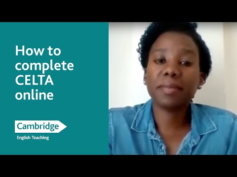 How to complete CELTA online - YouTube