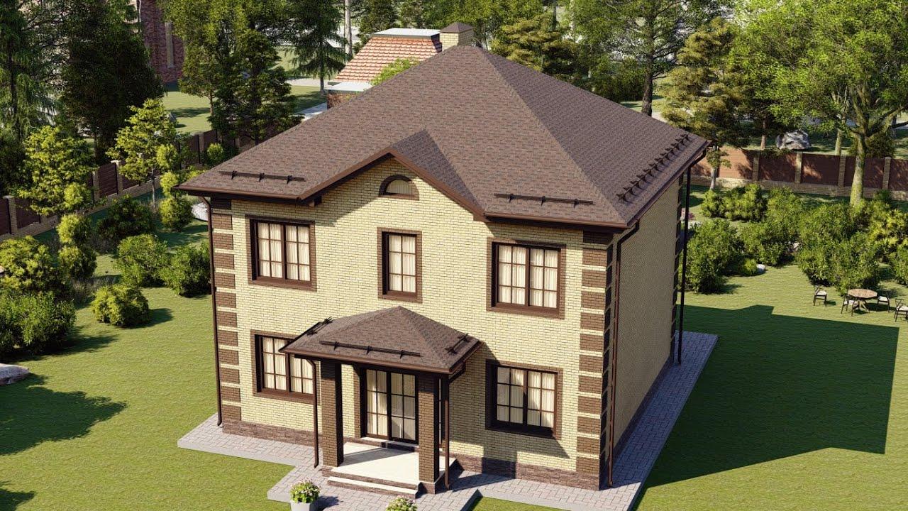 Двухэтажный дом из газобетона 10 на 10