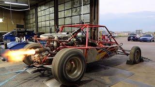 Honda V6 Sand Rail Hits The Dyno! (Made It Shoot Sick Flames)